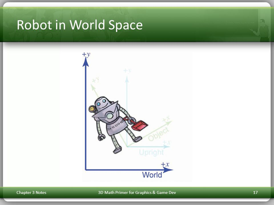 Robot in World Space Chapter 3 Notes3D Math Primer for Graphics & Game Dev17