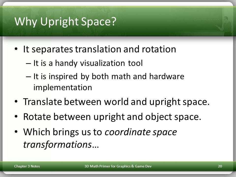 Why Upright Space.