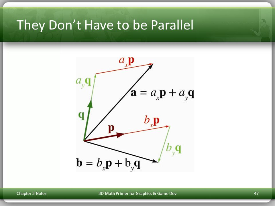 They Don't Have to be Parallel Chapter 3 Notes3D Math Primer for Graphics & Game Dev47