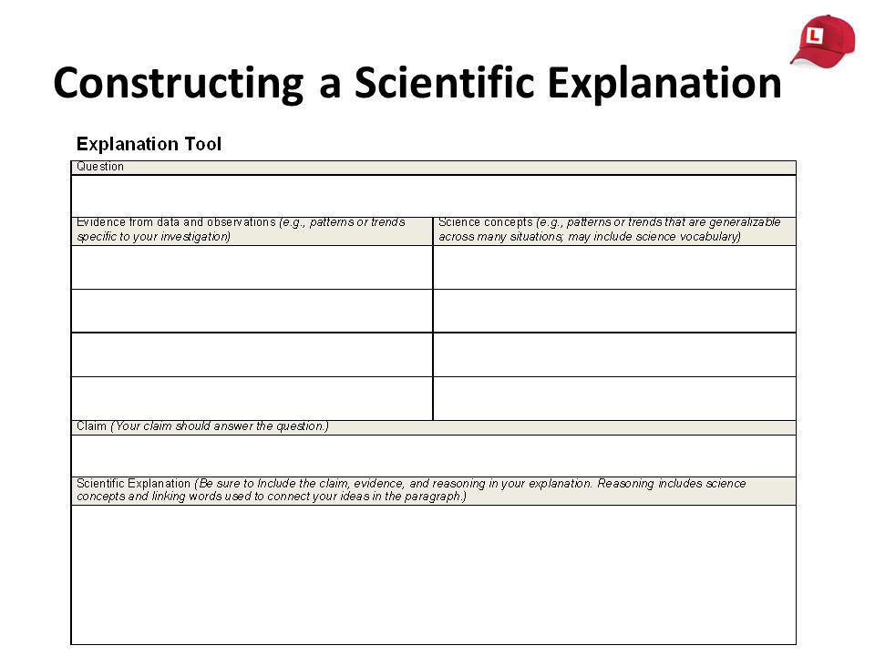 Constructing a Scientific Explanation