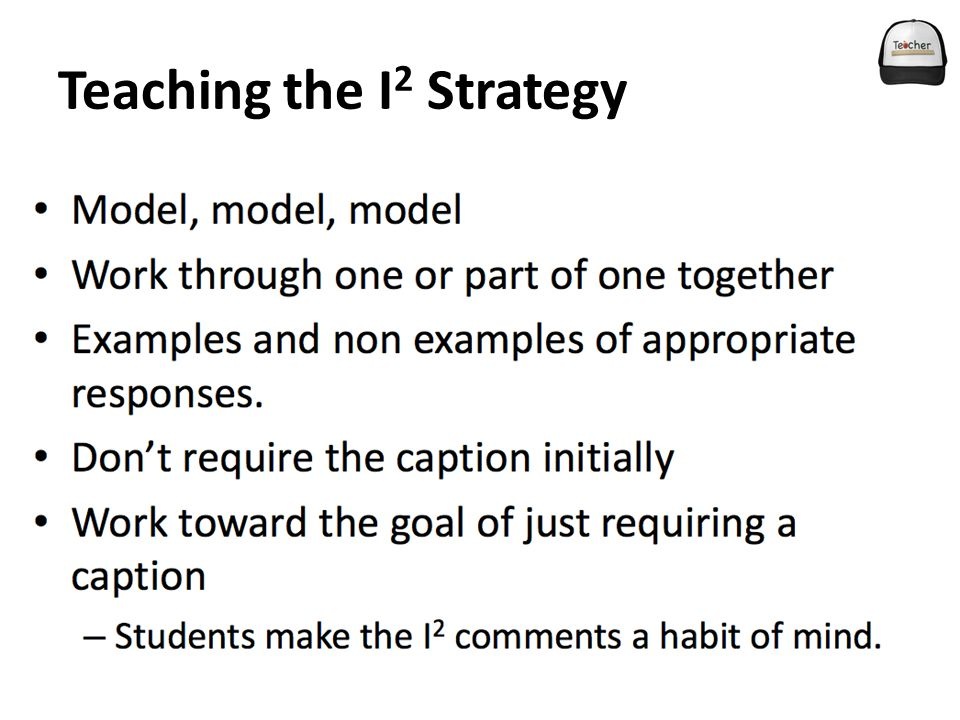 Teaching the I 2 Strategy