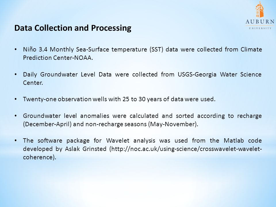 Data Collection and Processing Niño 3.4 Monthly Sea-Surface temperature (SST) data were collected from Climate Prediction Center-NOAA.
