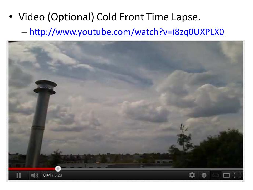 Video (Optional) Cold Front Time Lapse.
