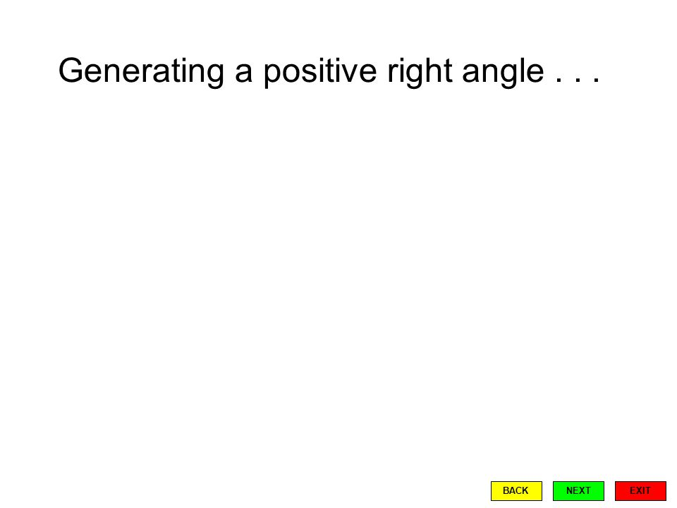 Generating a positive right angle... EXIT BACKNEXT