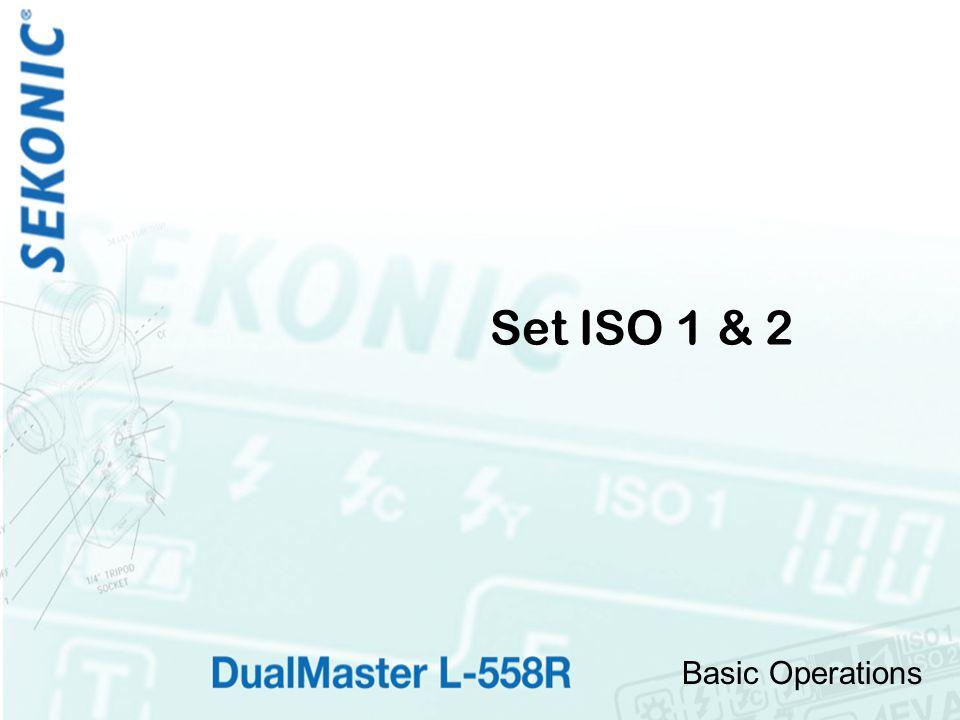 Basic Operations Set ISO 1 & 2