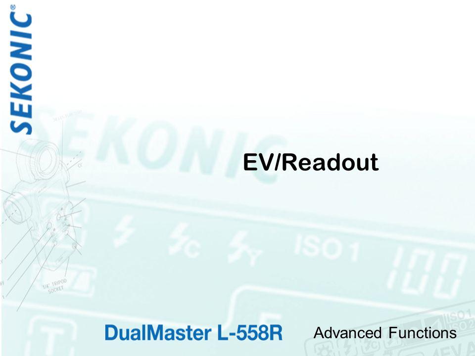 Advanced Functions EV/Readout