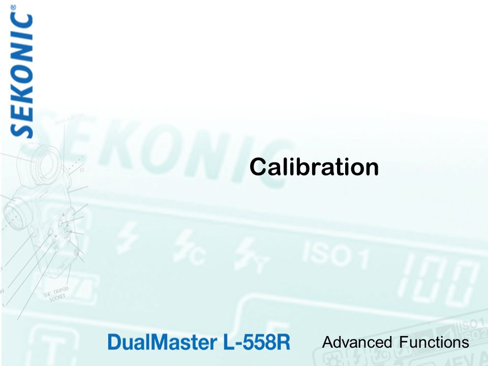 Advanced Functions Calibration