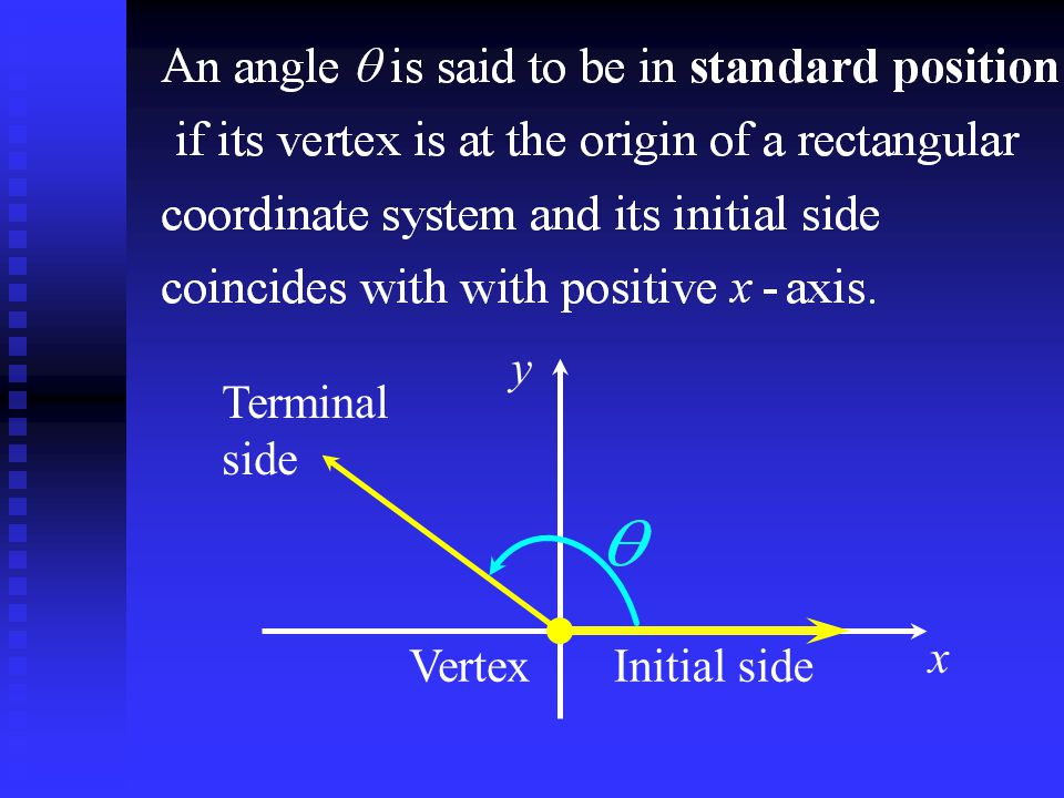 x NORTH Initial side Rotate Clockwise Terminal side APPLICATION - NAVIGATION Bearing Bearings are angles based upon a magnetic compass, where North is the initial side and the angles are rotated clock- wise from North.