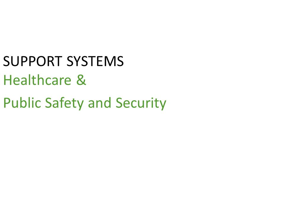 SUPPORT SYSTEMS Healthcare & Public Safety and Security