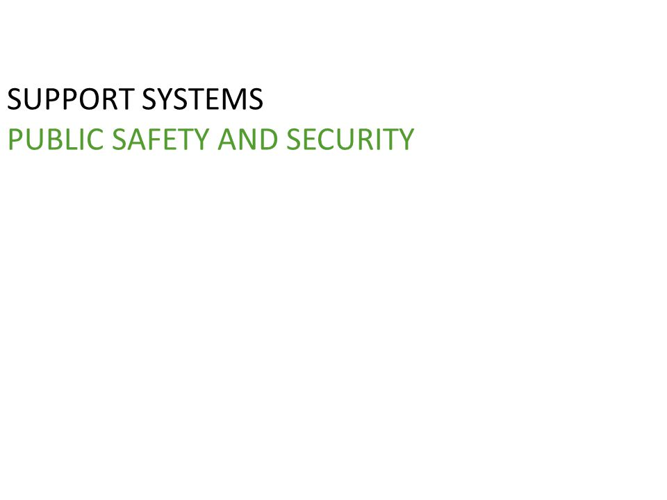 SUPPORT SYSTEMS PUBLIC SAFETY AND SECURITY