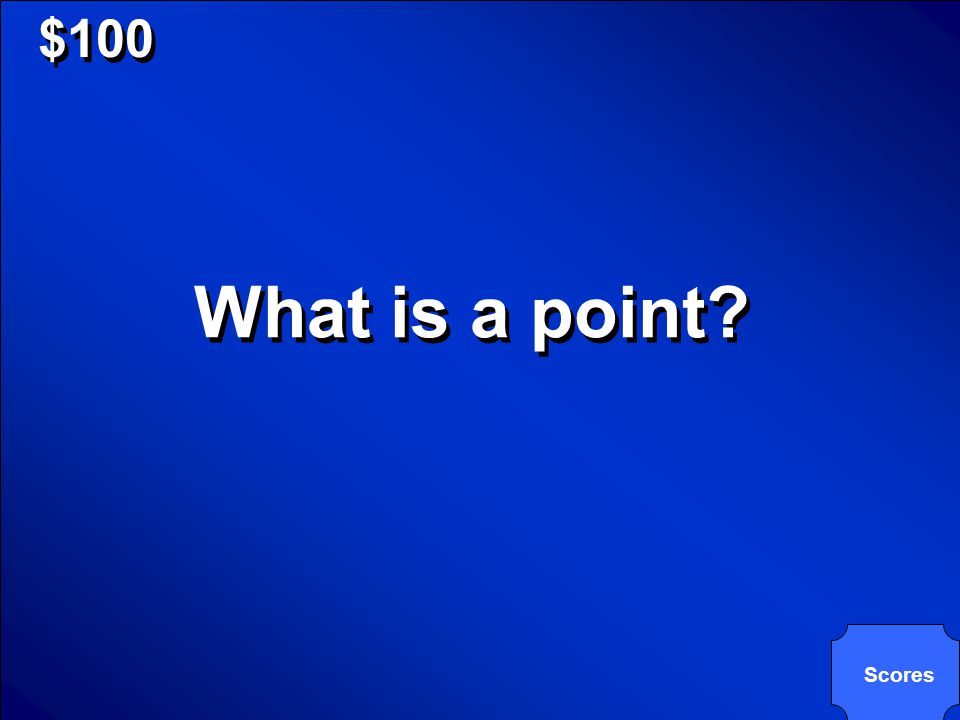 © Mark E. Damon - All Rights Reserved $100 What is a point? Scores