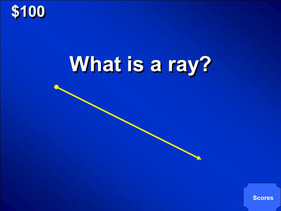 © Mark E. Damon - All Rights Reserved $100 What is a ray? Scores