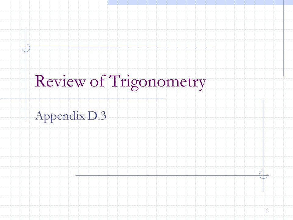 12 Trigonometric Identities & Formulas Note: Those written in blue should be memorized.
