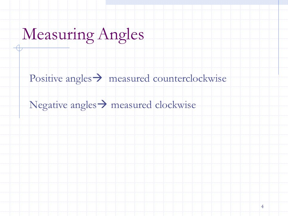 5 Radian Measure Radian measure of a central angle in the unit circle is the length of the arc of the sector.