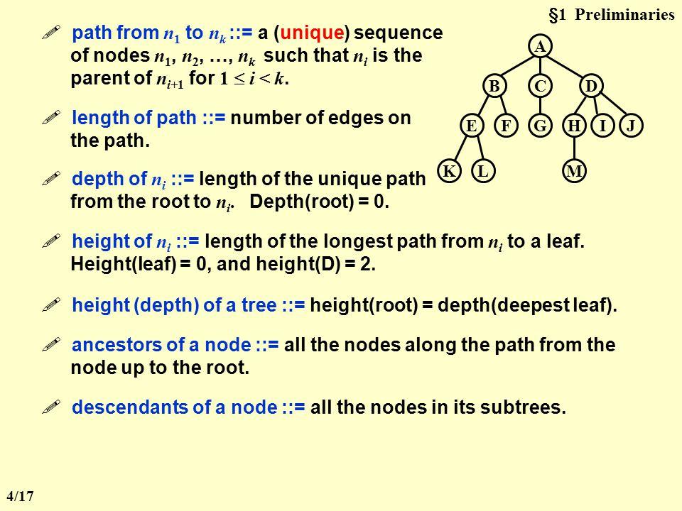A CBD GFEHIJ MLK  degree of a node ::= number of subtrees of the node.