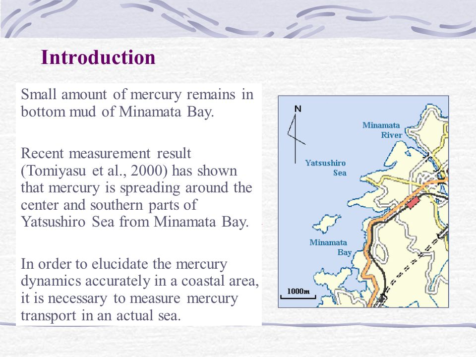 Introduction Small amount of mercury remains in bottom mud of Minamata Bay.