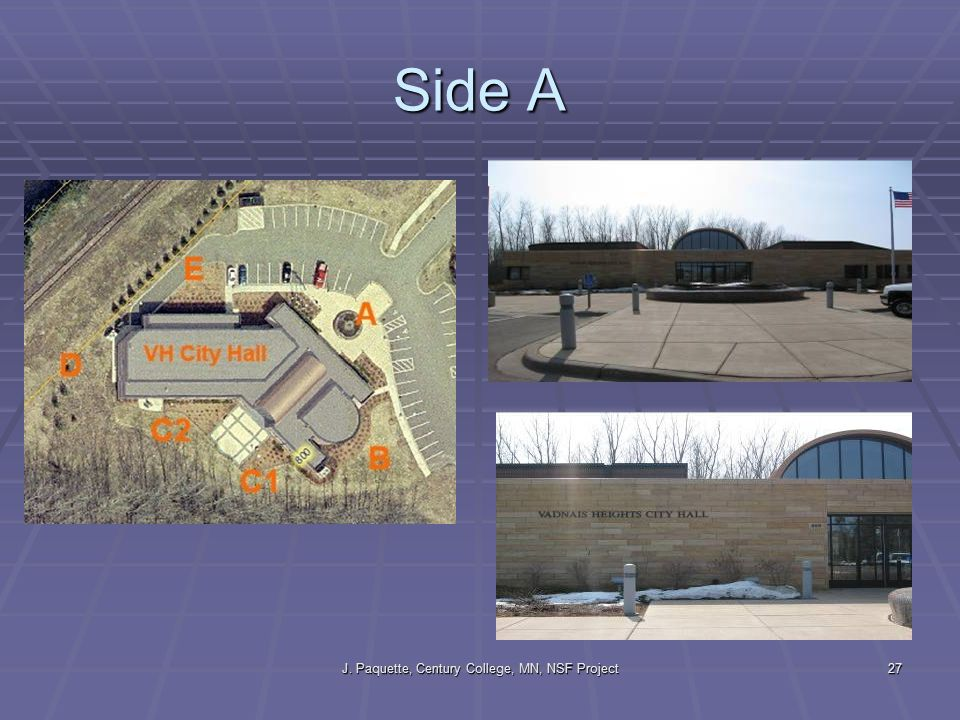 J. Paquette, Century College, MN, NSF Project27 Side A