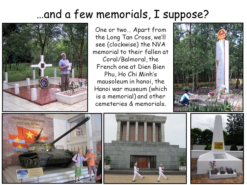 …and a few memorials, I suppose.