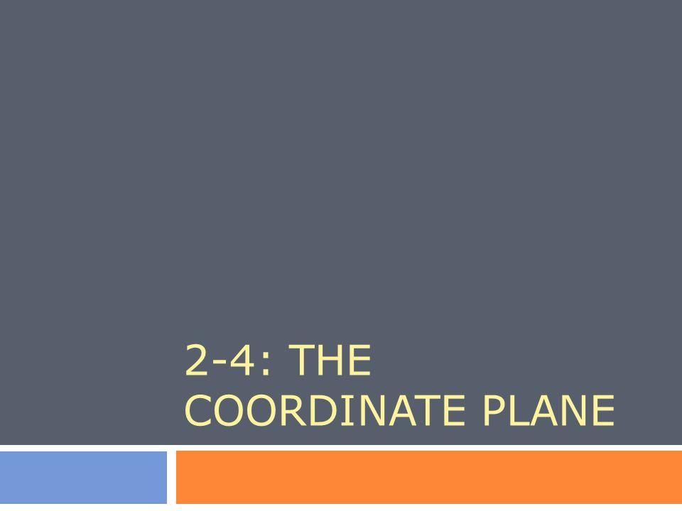 2-4: THE COORDINATE PLANE