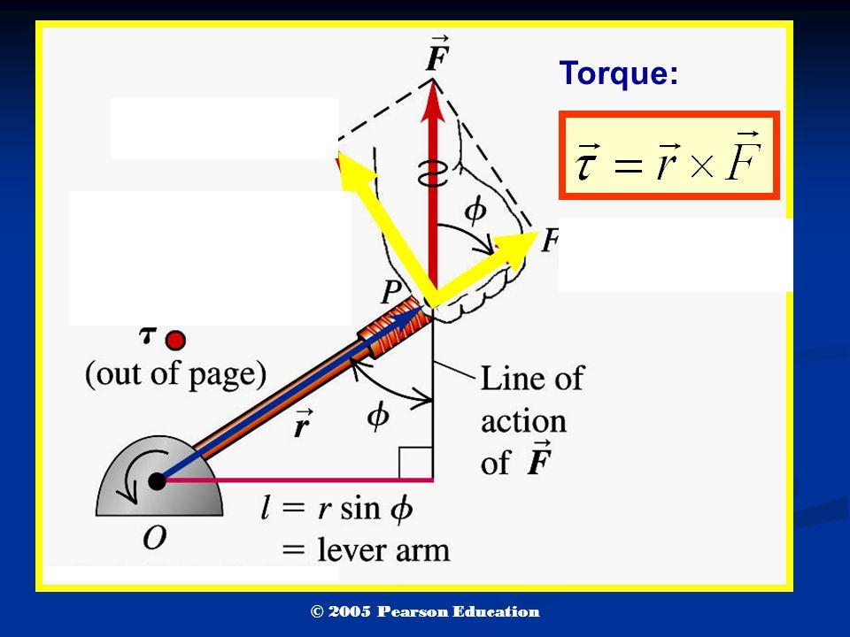 Torque: © 2005 Pearson Education