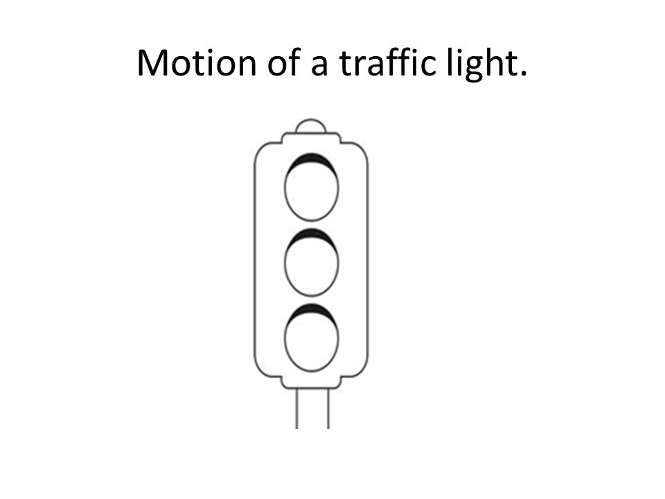 Motion of a traffic light.