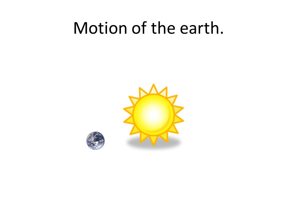 Motion of the earth.