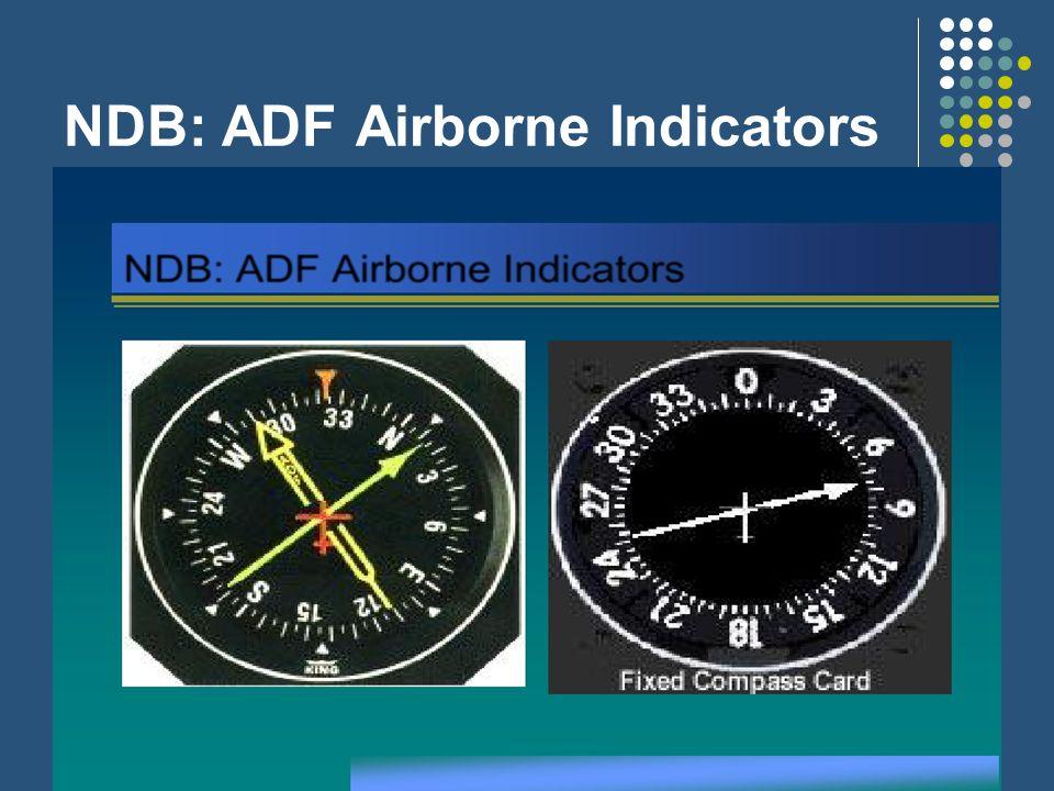 NDB: ADF Airborne Indicators
