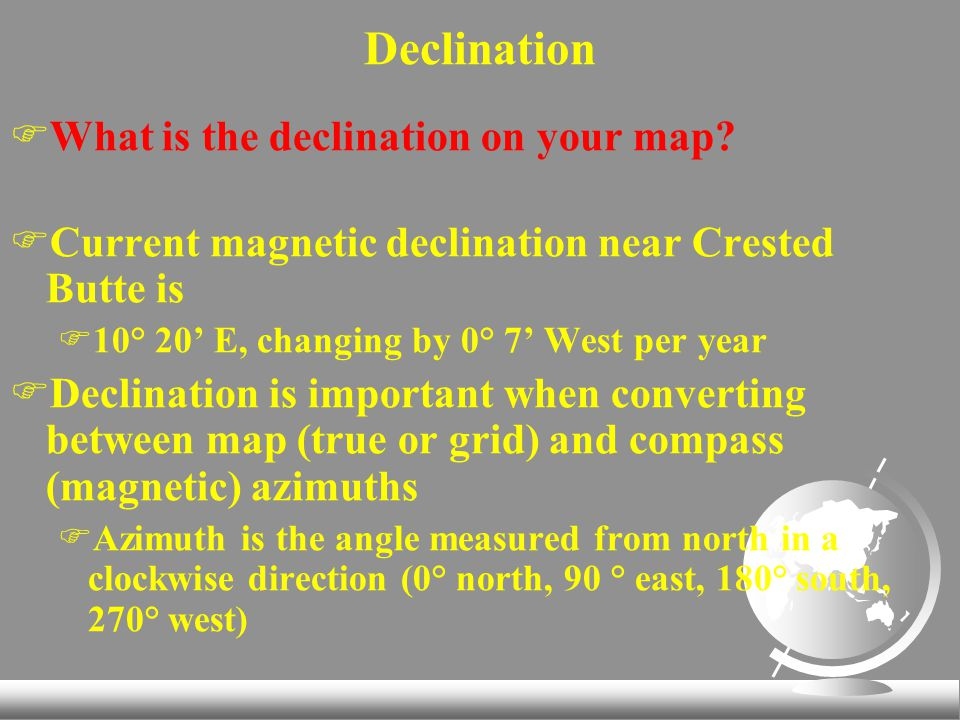 FWhat is the declination on your map.