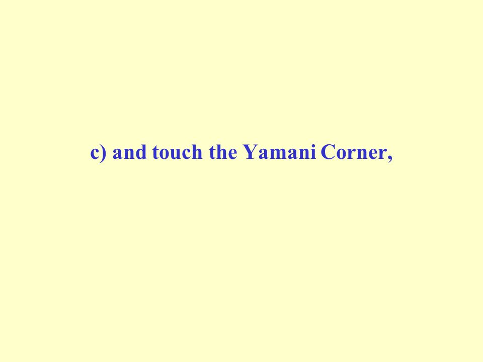 c) and touch the Yamani Corner,