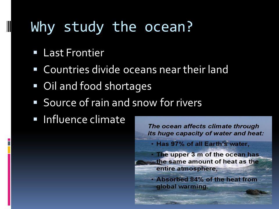 Five Oceans of the World  In order from Largest  Smallest:  Pacific Ocean  Atlantic Ocean  Indian Ocean  Southern Ocean  Arctic Ocean