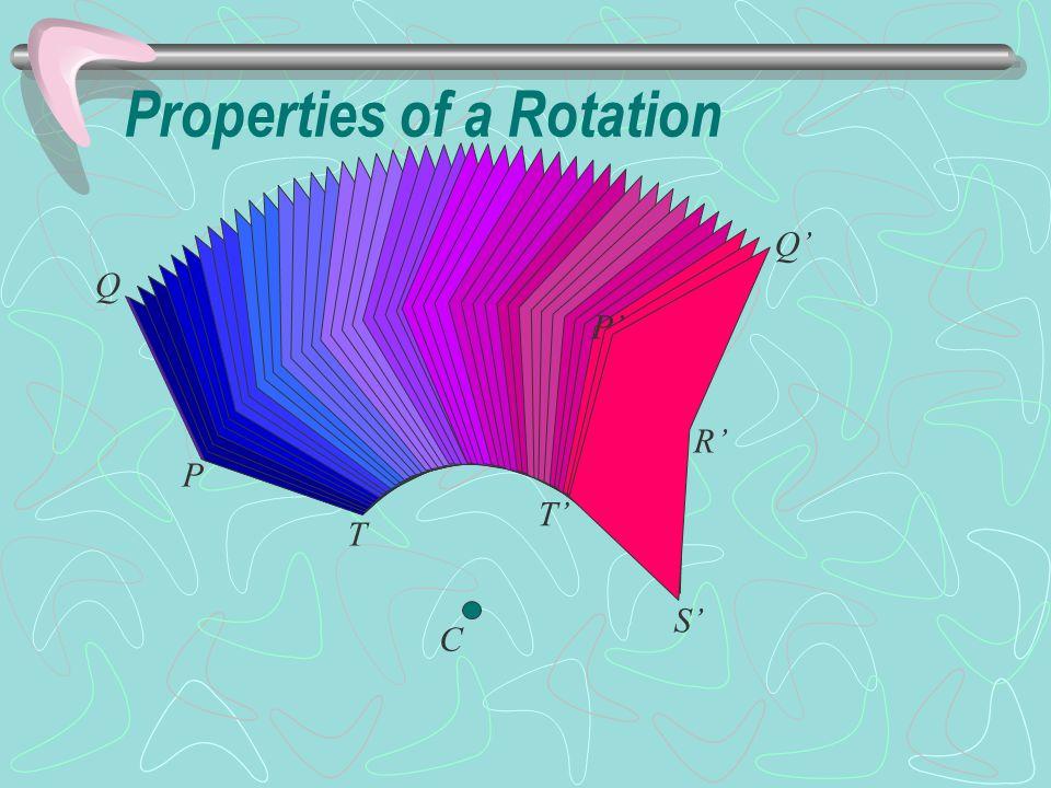 R S P Q T C T' P' Q' R' S' Properties of a Rotation