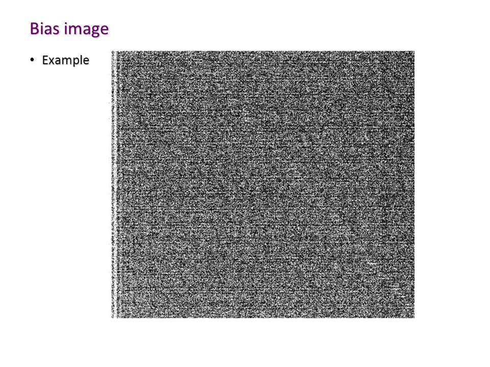 Bias image Example Example