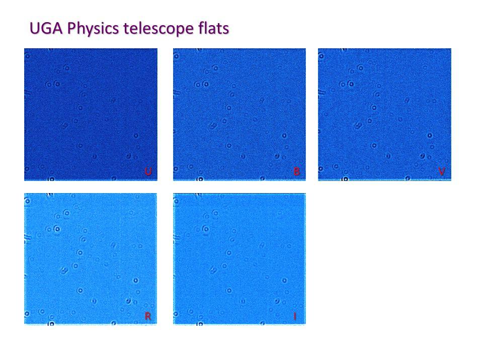 UGA Physics telescope flats UB V RI