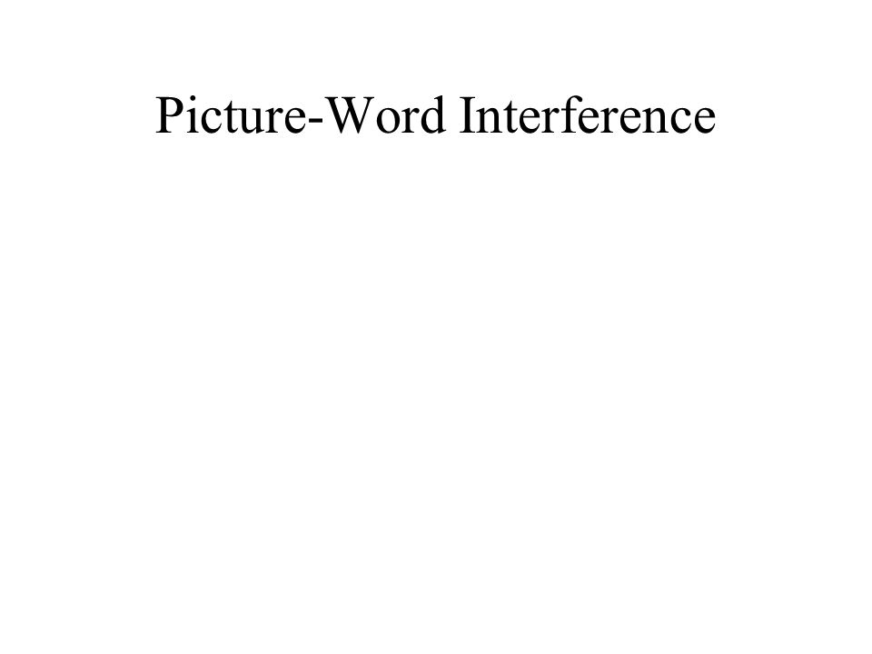 Picture-Word Interference