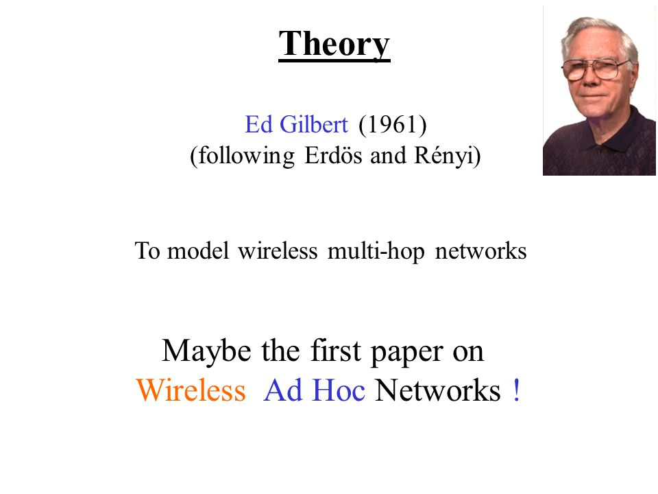 Maybe the first paper on Wireless Ad Hoc Networks .