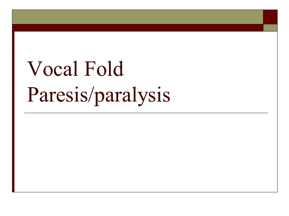 Neurologic Voice Disorders: A Classification Scheme  Hypoadduction  Hyperadduction  Phonatory Stability Short term Long term  Phonatory Incoordination/Voiced-voiceless  Mixed  Miscellaneous (Ramig & Scherer, 1992)