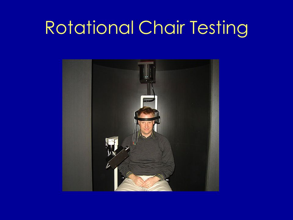 Rotational Chair Testing