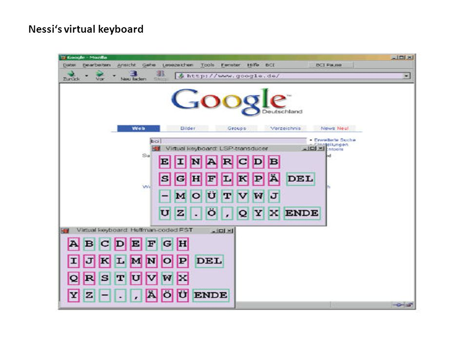 Nessi's virtual keyboard