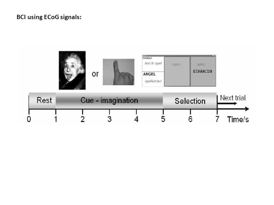 BCI using ECoG signals: