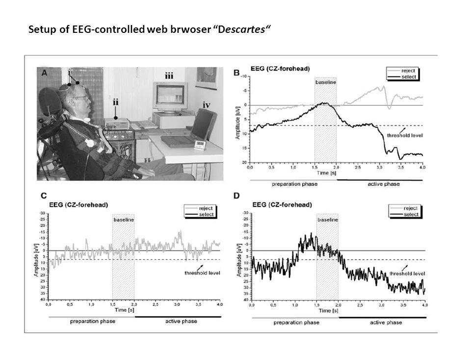 Setup of EEG-controlled web brwoser Descartes