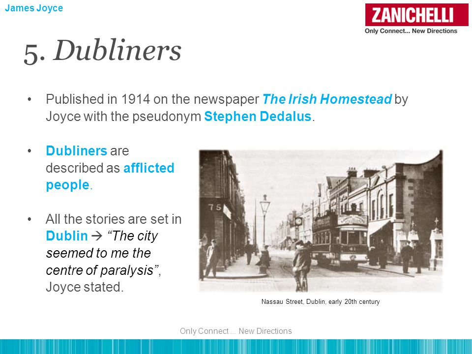 Published in 1914 on the newspaper The Irish Homestead by Joyce with the pseudonym Stephen Dedalus.