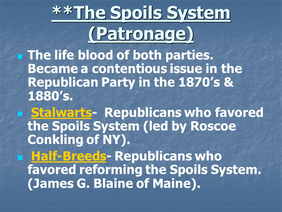 Gilded Age Politics Every presidential election was close.