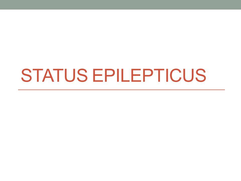 STATUS EPILEPTICUS