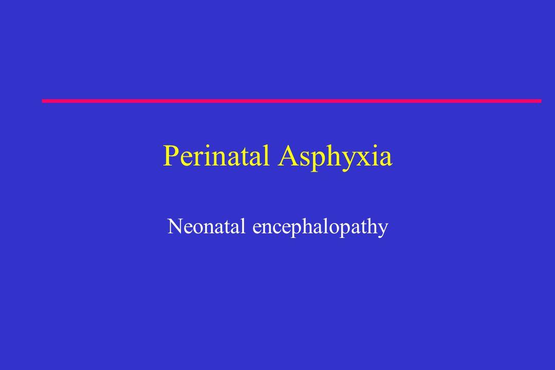 Perinatal Asphyxia Neonatal encephalopathy