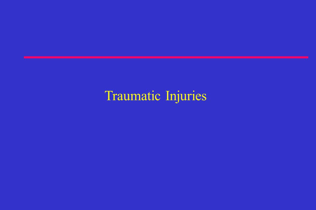 Traumatic Injuries