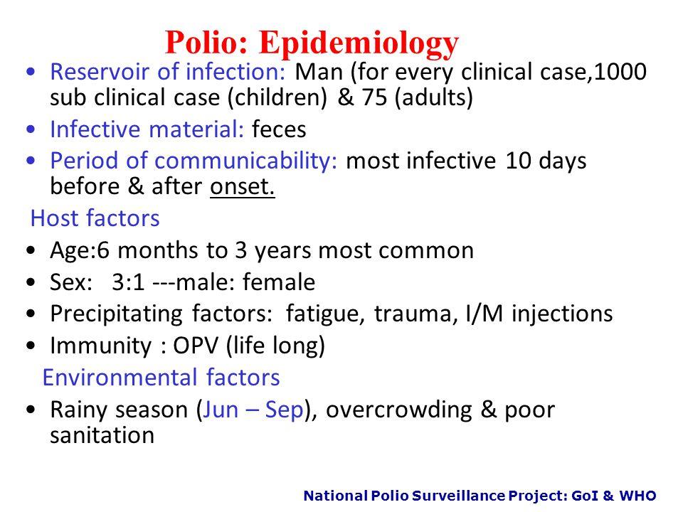 National Polio Surveillance Project: GoI & WHO Epidemiology of Polio