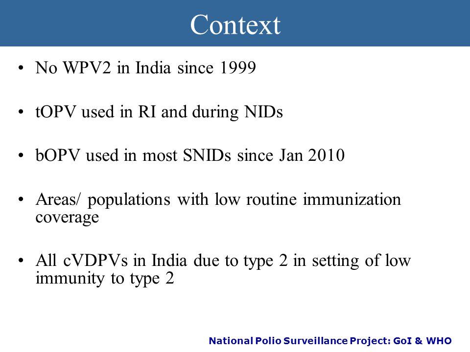 National Polio Surveillance Project: GoI & WHO Polio Endgame Strategy