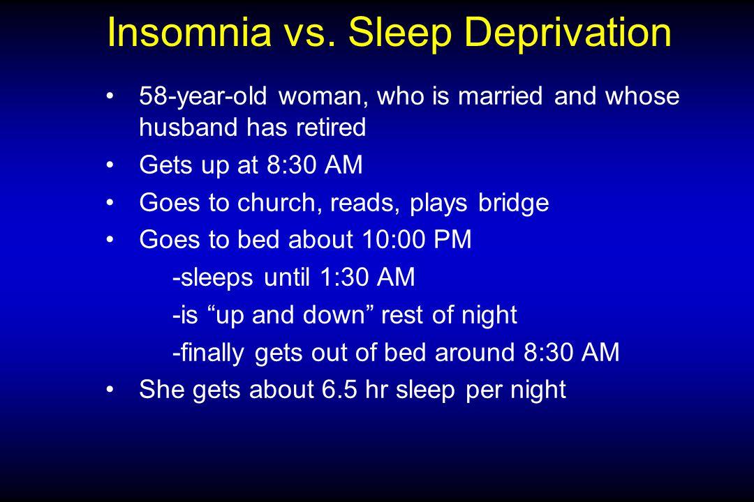 Insomnia vs.