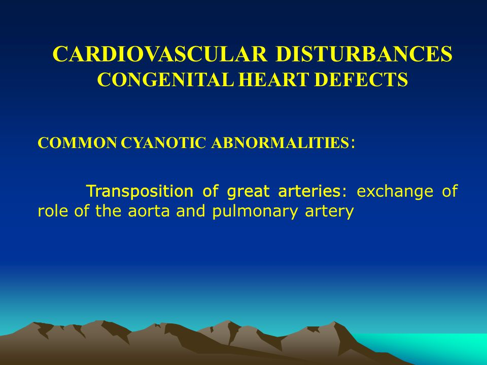 CARDIOVASCULAR DISTURBANCES CONGENITAL HEART DEFECTS COMMON ACYANOTIC ABNORMALITIES: Patent ductus arteriosus: Fetal blood vessel that usually closes soon after birth remains open with oxygen-rich blood returning from the lungs pumped to the lungs again, placing extra strain on the right ventricle and on the blood vessels leading to and from the lung.