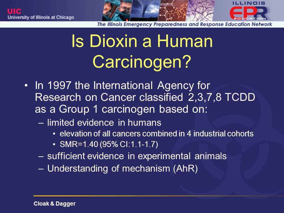 Cloak & Dagger Is Dioxin a Human Carcinogen.